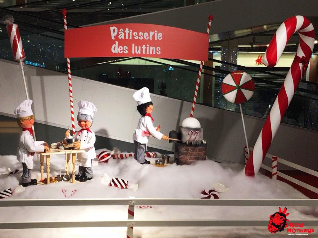 Scène automates pâtissiers Red Monkeys