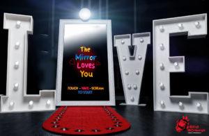Red Monkeys miroir interactif décor LOVE